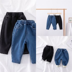 1rZFb Childrens Clothing pant New Color Version of Mens And Womens Baby Loose Autumn boy jeans Thicken kid Jeans child trouser korean