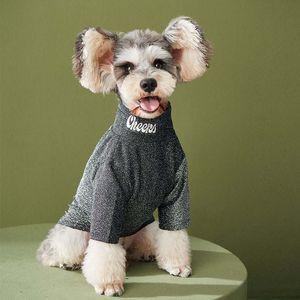 Winter Warm Dogs Bottoming Shirts Teddy Schnauzer Corgi Puppy T-Shirts Tide Brand Dog Cat Casual Shirt Pets Clothes