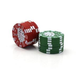 Bardian Poker Chip Herb Mühlen 4 Ebenen Kunststoff Mini Rauch Rauchbrecher Runde Manuell Raucher Mühle Haus Haus EEF3899