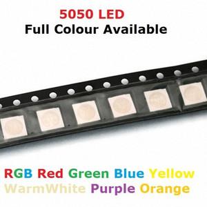 100PCS SMD RGB 칩 LED PLCC-6 LED 색 60mA DC 2V 적색 녹색 청색 발광 다이오드 램프 PCB SMT는 CHH1 번호 비즈 SMD