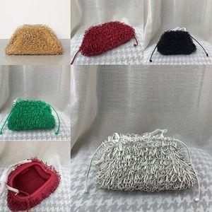 Wholesale-The sponge Leather Envelope Bag Luxury Shoulder Bags Women Designer Voluminous Round Shape Purses and Handbags Dumpling Cloud pack