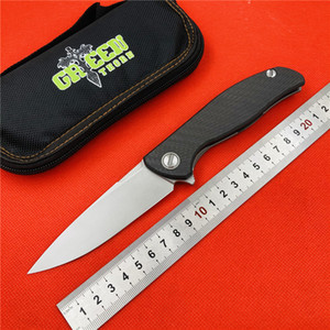 GREEN THORN HATI Flipper F95 D2 blade 3D CF + Titanium Handle folding knife Outdoor Camping EDC tools Hunting pocket knive