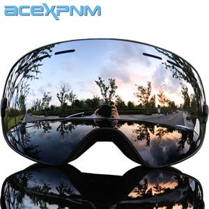 2019 ماركة نظارات التزلج طبقات مزدوجة uv400 مكافحة الضباب كبير قناع التزلج نظارات التزلج الرجال النساء الثلوج الجليد نظارات المهنية Q0107
