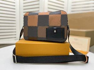 venda Hot moda high-end mens senhoras laranja grade bolsa sacos famosos N40421 saco da câmera pequenas crossbody saco de sacos de ombro Alpha Mensageiro b