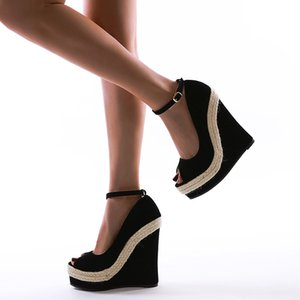 Summer new fashion fish mouth 16 cm high heel sandals are available in sizes 35-42