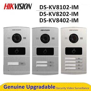 فيديو باب الفيديو DS-KV8102-IM DS-KV8202-IM DS-KV8402-IM Hik Hands شبكة معدنية مجانية فيلا محطة الهاتف الداخلي Doorphone1