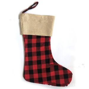 Noel süsler hediyeler çanta kırmızı yeşil beyaz ekose çorap moda dekorasyon çorap 2020 en iyi satanlar sıcak satış 9 5jz f2