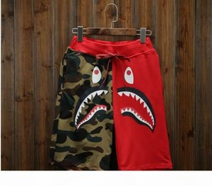 New Men's Shark Shorts Cotton Camo Causal Shorts Men Casual Camouflage Skateboard Short Pants Loose Streetwear