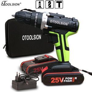 25V Electric Tools Impact Drill Impact Electric Screwdriver Impact Cordless Drill Electric Drill Battery Screwdriver 25+3 Torque T200602