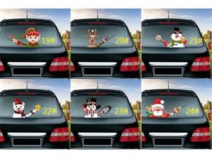 Hot selling Car Rear Windscreen Wiper Stickers Sticker Magic Christmas Waving Santa Claus Elk Xmas Novelty