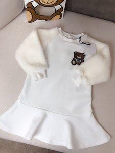 Neonate Winter Dress a maniche lunghe maglione Knit di Natale del bambino casuale caldo abito in chiffon di natale Abbigliamento per bambini