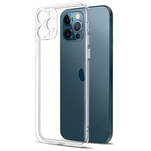 Camera Lens Protection Clear Phone Case For iPhone 12 Pro Max Silicone Soft Cover For iPhone 12 Mini Shockproof Back Cover Gift