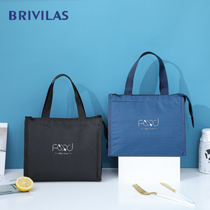 Brivilas new lunch bag for women cooler portable hand zip food bags waterproof picnic travel breakfast thermo bag high quality C0125