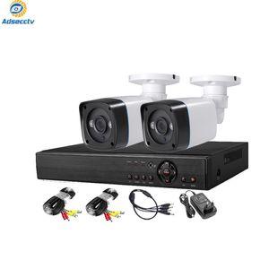 2ch DIY Security Kits Outdoor 5.0MP Hiybird System tout en une vidéo Set de vidéosurveillance Set 4ch Hybird DVR 2pcs Caméra de balle imperméable Vision nocturne AS-MVK5804E-2F
