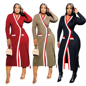 Casual Loose Womens Coats Womens Trench Coats Autumn Long Sleeve Panelled Stand Collar Bandge Ladies Outerwear