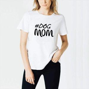 HARAJUKU Dog Mom Shirt Mothers Day Regalo Della Womans T Shirt Dog Lover Grafica Tees Estate Tops
