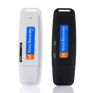 New arrival U-Disk Digital Audio Voice Recorder Pen charger USB Flash Drive up to 32GB Micro SD TF High Quality