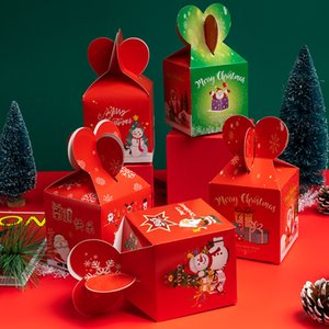 Merry Christmas Apple Box Christmas Eve Packaging Boxes Fairy Design Papercard Regalo di Natale Contenitore di Natale Fruit Creativo all'ingrosso