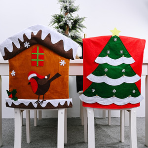 Christmas decorations 20 non-woven chair cover cartoon stool back cover Christmas chair cover T3I51339