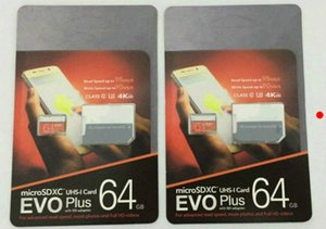 DHL shipping 8GB 16GB 32GB 64GB 128GB 256GB EVO+ Plus micro sd card U3 smartphone TF card C10 Tablet PC SDXC Storage card 95MB S