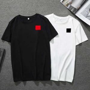 Mens Camiseta Moda Coração Vermelho Camiseta Printing Mens Cabeleireiro De Manga Curta Preto Branco Alta Qualidade Camiseta