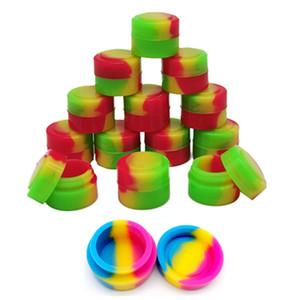 Silicone Wax Container Food Grade 2mL Wax Storage Tank Multi Color Dab Wax Jars Concentrate Case e-cigarette Oil Containers