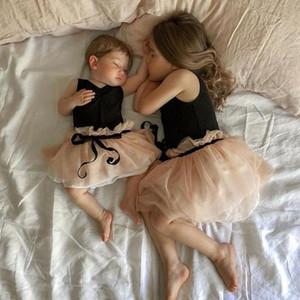 Princesse Enfant enfant bébé fille robe sans manches tutu tulle fête de mariage robes d'anniversaire de mariage pour filles été filles sqccmi