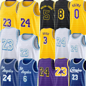 Los Alex 4 Caruso Angeles Jersey Anthony 3 Davis Kyle 0 Kuzma Jersey Talen 5 Horton-Tucker Basketball Jerseys Yellow Black White Purple