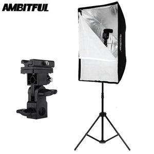 Godox 60 x 90cm Şemsiye softbox Işık Stand Tip-B ile, Hot Shoe Tutucu Parantez Kiti Godox Speedlite Flash için