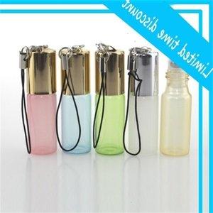 5ml rouleau sur pendentif perle lustre couleur rouleau en métal rouleau bouteille de bouteille de bouteille d'huile essentielle fragrance