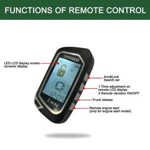 PKE 2-Way Display Remote Engine Start Stop STOP BIGLEL ACTOVE Автосигнализация Система Дверной блокировки Приложение Bluetooth / Vibration Start