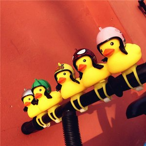 Small Bicycle Bell Yellow Duck Bicycle Light Head Lights Mountain Bike Handlebar Cartoon Ring Bike Accessories Ordingary Bell SucT#