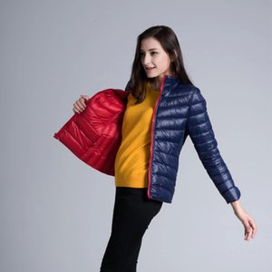 Womens Two Side White Duck Jacket Warm Winter Coats Lightweight Down Jackets Casual Parkas