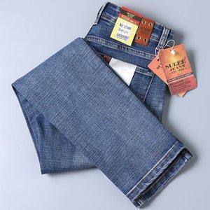 2020 Sulee gute Qualität Blau Jean Slim Fit Denim Jeans Men Cotton Stretch-Denim-Hosen Cowboy Geschäft Jeans
