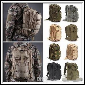 US Stock 12 Colori 30L Escursionismo Borsa da campeggio Militare Tattico Trekking Trekking Zaino Zaino Camouflage Molle Zaini Attacco Borse all'aperto