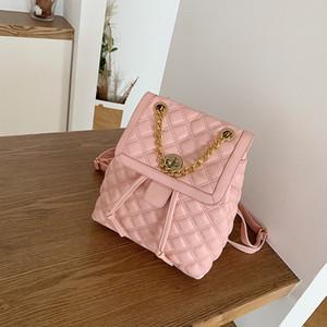 Designer Pu Leather Backpacks Women Ladies Shoulder High Quality School Bags for Teenage Girls Chain Travel Bag