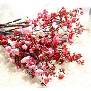 60cm 4Color Fleurs artificielles Cherry Blossom 10pieces / Lot Home Home Table Vase Bureau De Mariage Fête Fête de Jlljls Lajiaoyard