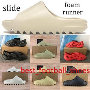 New release Kanye foam runner sandals shoes triple black white slide slipper Trainers total orange bone resin desert sand shoes Sneakers