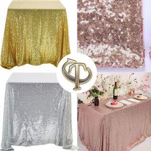 Home Hochzeit Tisch Tuch Tisch Rose Dekoration1 Tischdecke Pailletten Rechteck Gold / Silber / Gold rechteckig für Pailletten Glitzer Cover Xspja
