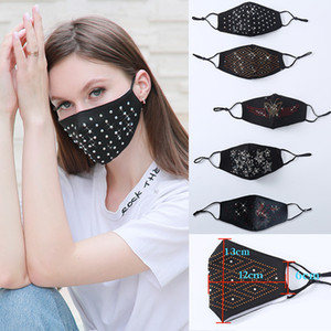 2020 DHL Diamond-fantasia maschere di design di cotone in cinque modelli estate solare solare e polvere sottile respirabile trapano maschera viso