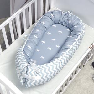 QWZ New 80 * 50cm Nest bewegliche Krippe Travel Säuglingskleinkind Baumwolle Wiege für Neugeborene Baby-Bett Bassinet Auto Q1109