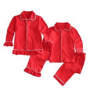 Niños niños dormir ropa bebé niña caída algodón conjuntos de navidad niños ropa de hogar pijamas para niños pijamas niños ropa de dormir 12m-8y pijama1