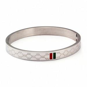 JINHUI Charm Pulsera para el brazo para las mujeres brazalete del acero inoxidable chapado en oro de 4 mm 6 mm 8 mm Ancho de boda de lujo de la joyería femenina regalos q8MO #