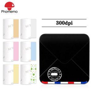Phomemo M02S Мини термопринтер Портативный принтер 300DPI Фото для печати этикеток телефона карманного Handheld Mobile Bluetooth