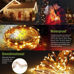 Led Solar String Lamp 8mode Fairy Light Christmas Lights 12m 100led Copper Wire Wedding Party Decor Lamp Garland sqcsAq sports2010