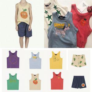 여름 세련된 어린이 민소매에 대한 TAO 키즈 여름 의류 컬렉션 소년 조끼 1005 어린이 아이스크림 편지 프린트 탱크 탑