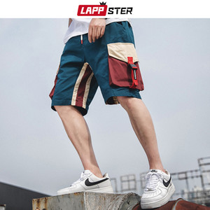 LAPPSTER Summer Patchwork Sweatshorts 2020 Men Basketball Camo Cargo Shorts Cotton Army Green Running Shorts Plus Size Joggers T200704