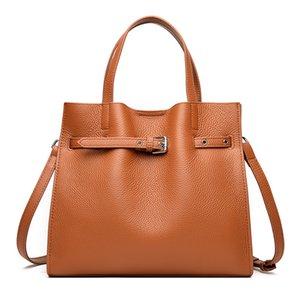 Women's Leather New Urban Simple and Fashionable Handbag Mother Versatile One Shoulder Messenger Tote Bag