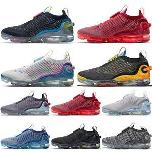 Corredores de primera calidad Fly Knit 2020 zapatos para hombre para mujer 360 zapatillas para correr Triple negro blanco Team Red Pure Platinum Deportes Deportes Entrenadores