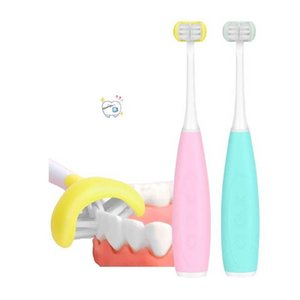 Sonic Electric Toothbrush Kids USB Rechargeable 3D Ultrasonic U-Shaped Teeth Cleaning Brush Teeth For Children Practical